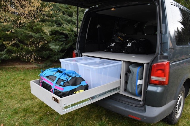 vw tt transporter travel sleep box