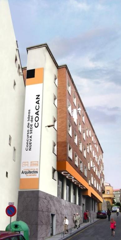 ACCESIT. Concurso de ideas para la sede del Colegio Oficial de Arquitectos de Cantabria. Arq. Raúl Sáez Sáez