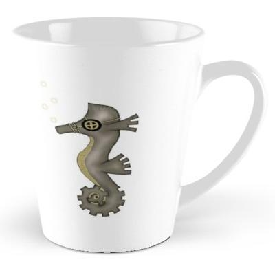 Steampunk Seahorse Tall Mug