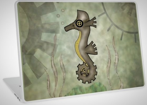 Steampunk Seahorse Laptop Covers