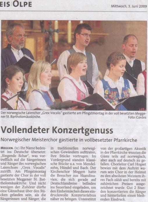 Westfalenpost, 3. Juni 2009