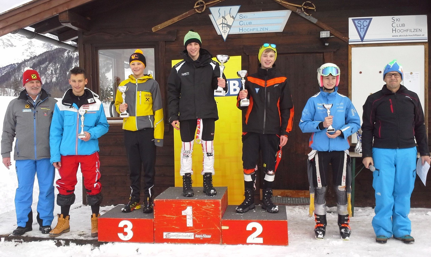 2. Rang für Thomas Prosch, 4. Rang für Roland Asslaber und 5. für Florian Pirnbacher