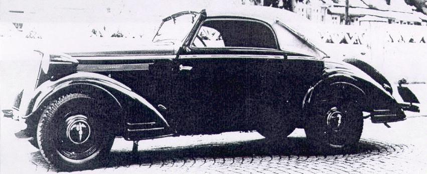 1.3Liter Cabriolet 2 Fenster von 1935