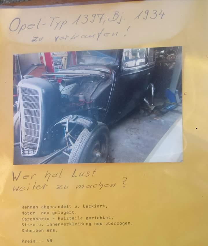 Das Foto habe ich Gottseidank noch gefunden vom Opel CL