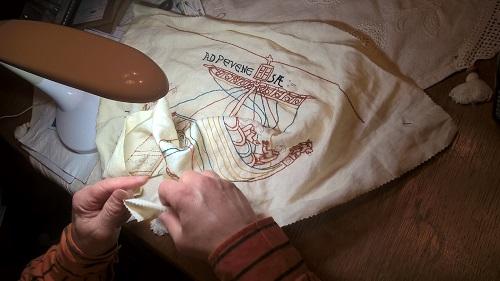 mein Mann bei der Arbeit ,Teppich von Bayeux