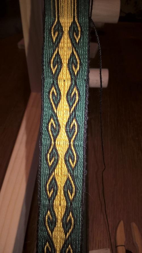 ebenfalls das Widderhorn mit Spiegelung des Musters