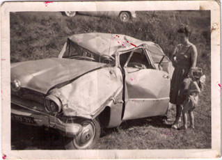 1958 - Fahrzeug nach dem Unfall