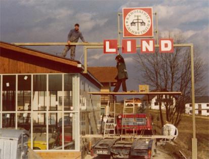 1976 - Aufbau des Firmenlogos