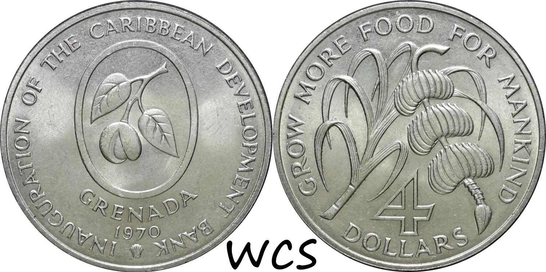 Grenada 4 Dollars 1970 F.A.O.