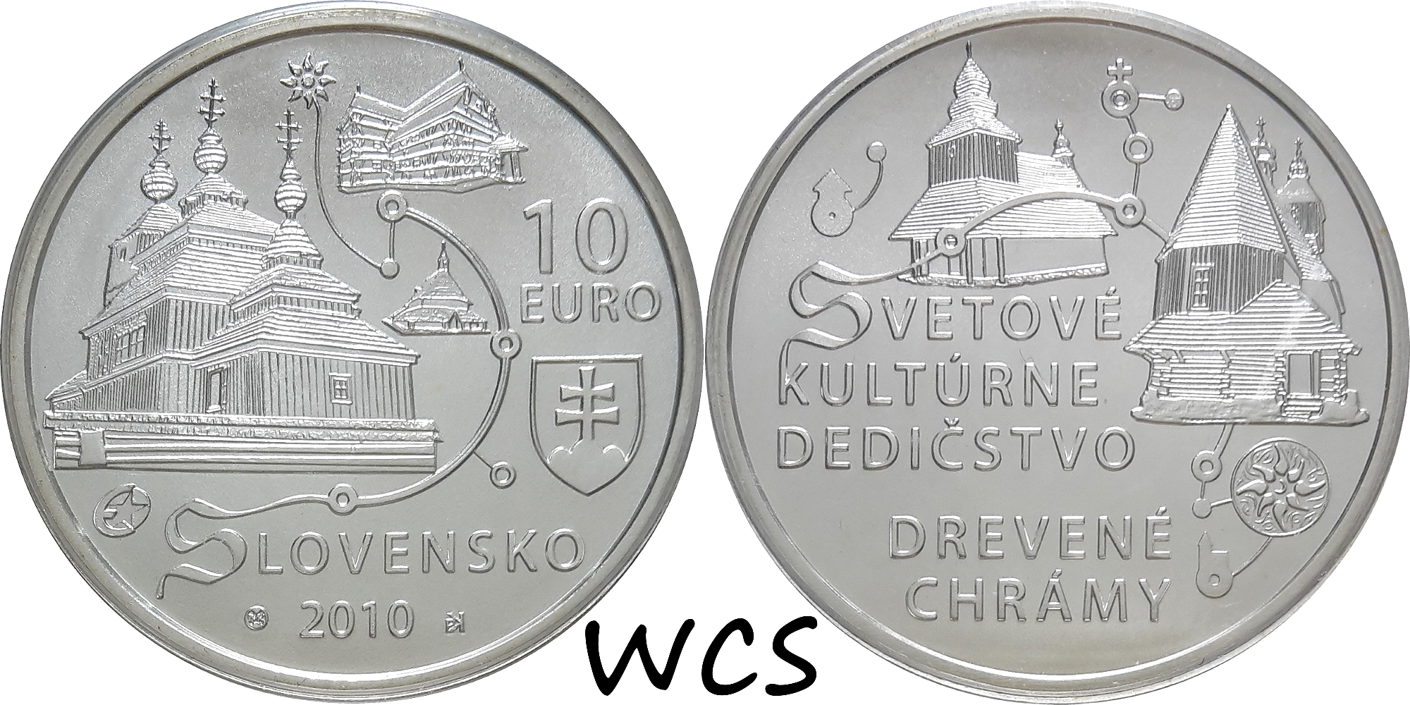 Slovakia 10 Euro 2010 - Wooden Churches of the Carpathian Slovakia - UNESCO World Heritage