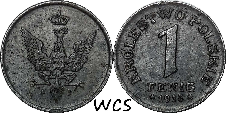 Poland 1 Fenig 1918 Y#4 XF