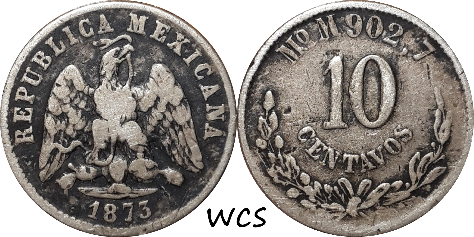Mexico 10 Centavos 1873 Mo M