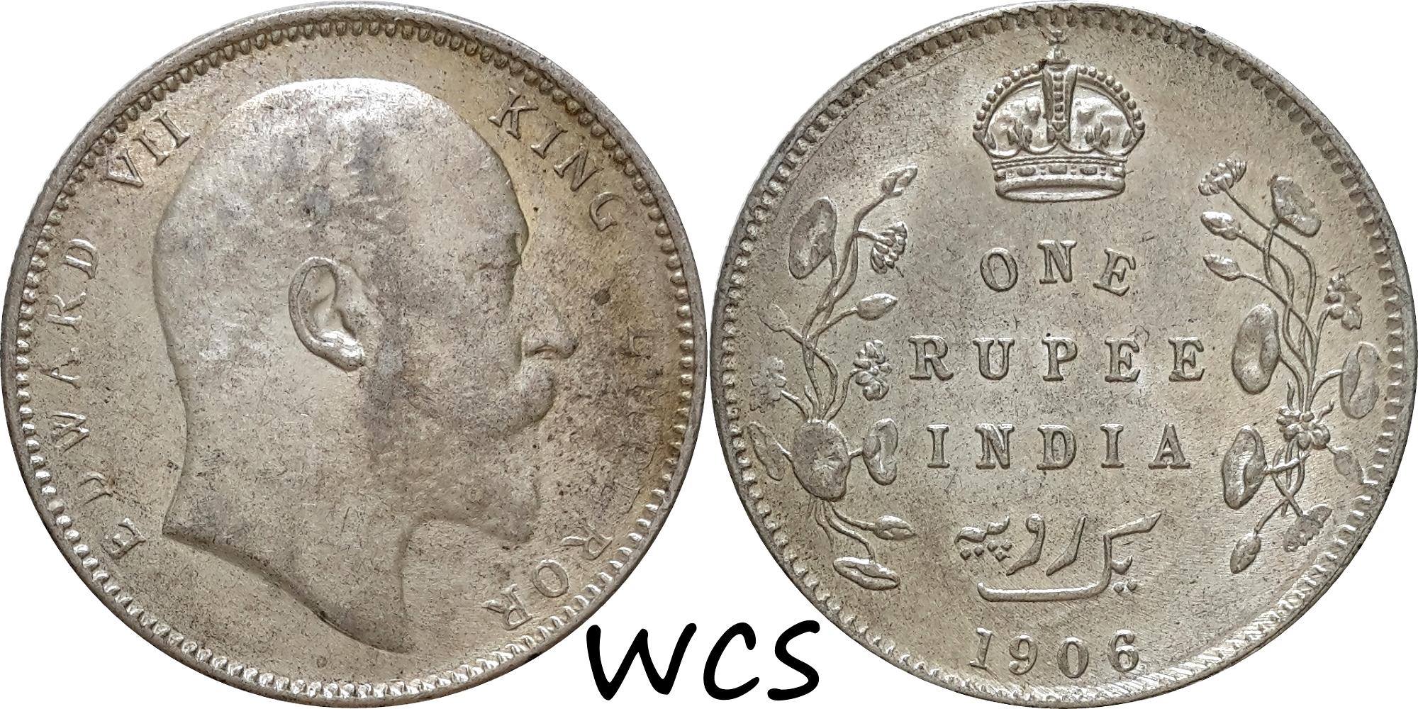 India-British 1 Rupee 1906
