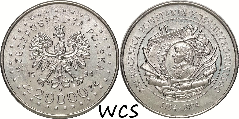 Poland 20000 Zlotych 1994 - 200th Anniversary - Kosciuszko Insurrection
