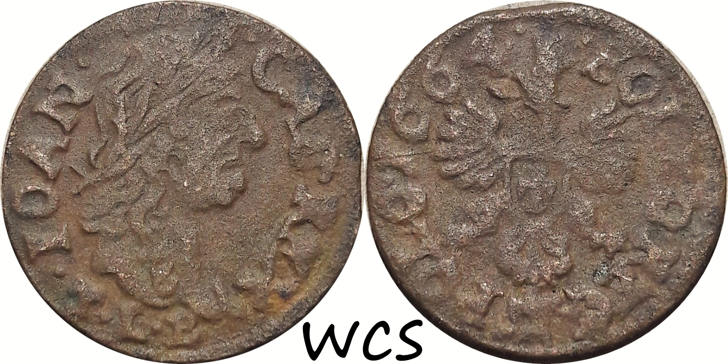Polish Lithuanian 1 Solidus 1664 Ujazdow KM#110 G