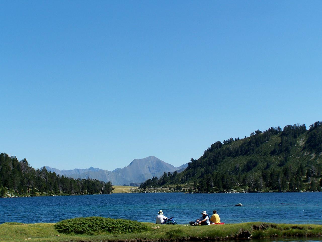 Pause au bord du lac d'Aumar