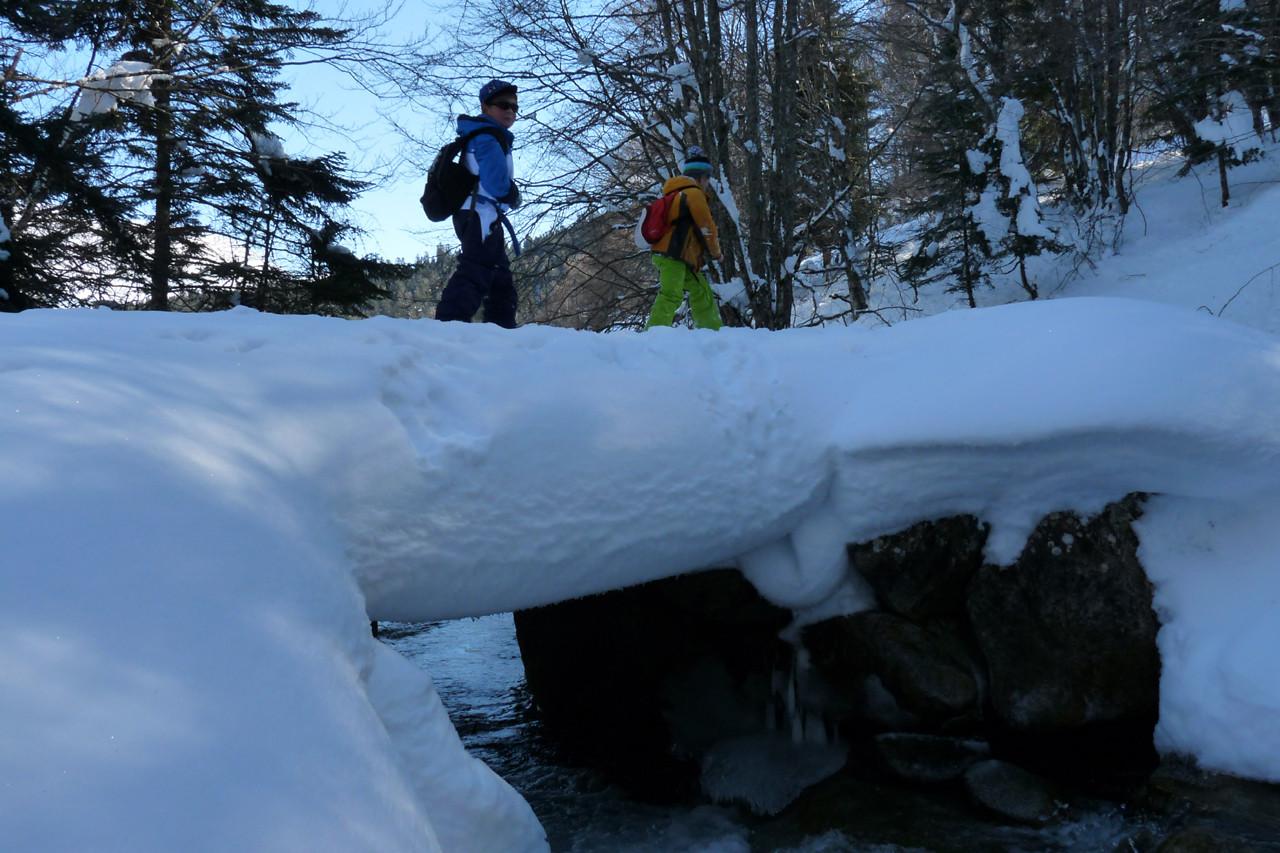 Sur le pont... de neige