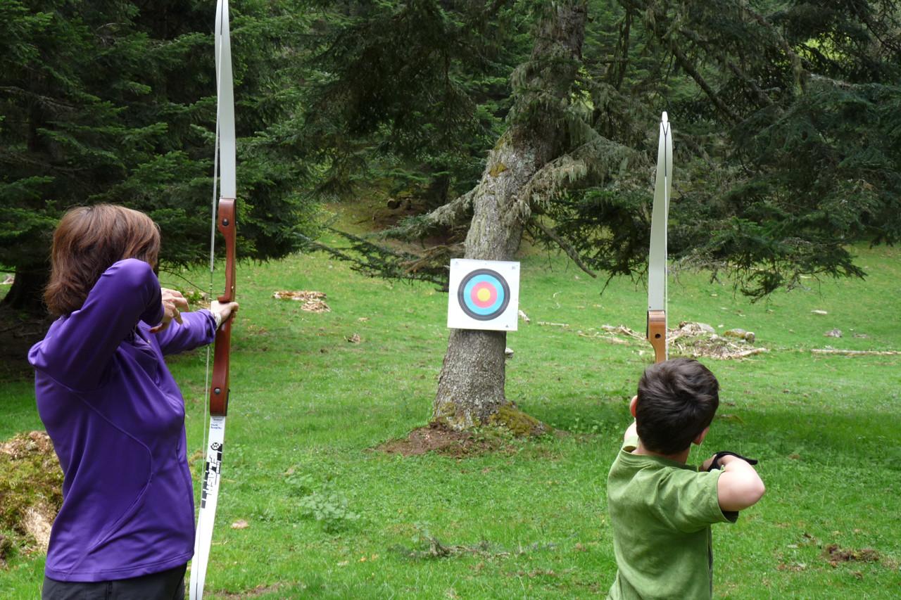 Tir à l'arc dans les bois