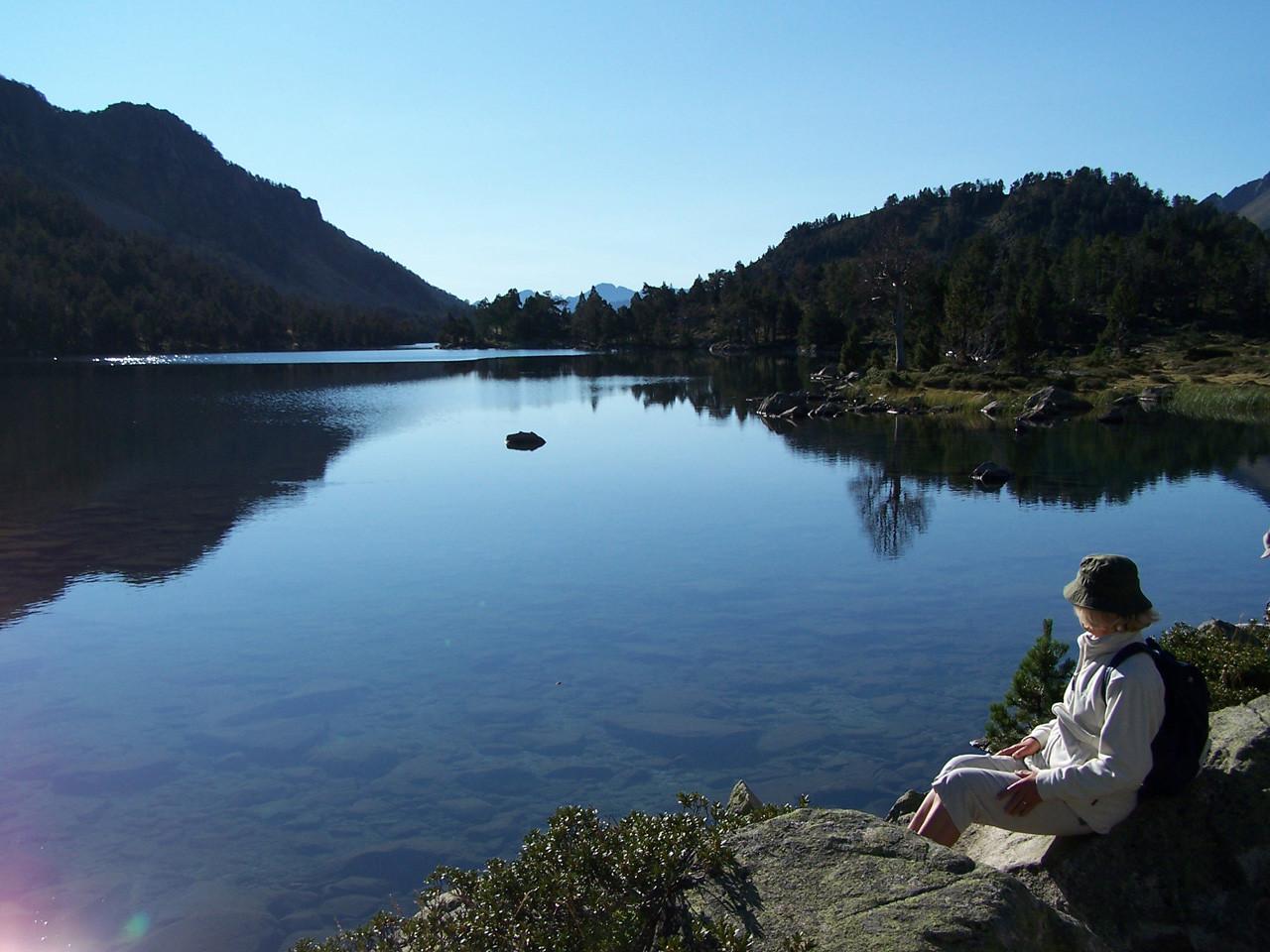 lac d'Aumar au petit matin