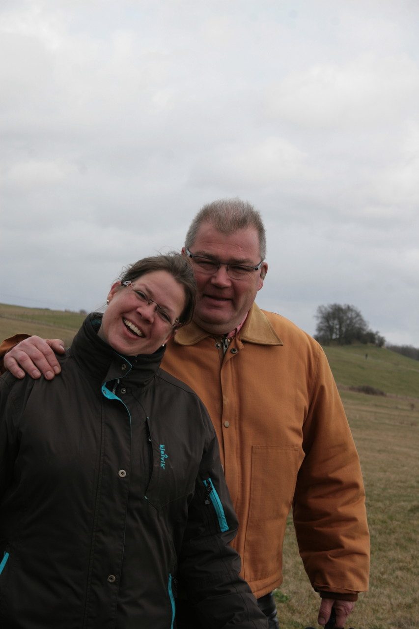 Die fleißigen Helfer: Uwe und Christina als Streckenposten