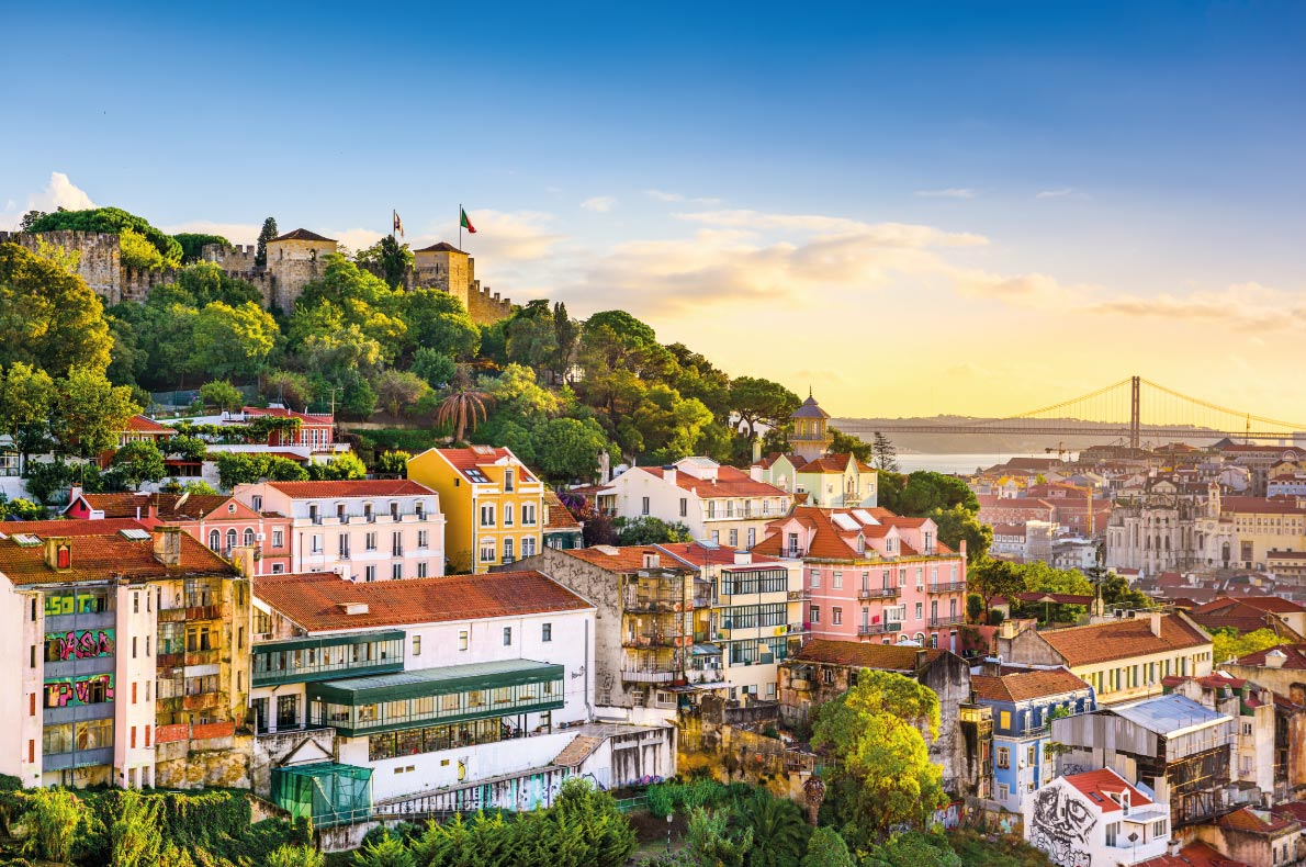 St Georges Castle in Lisbon  - Best destinations for a wedding proposal - Copyright   Sean Pavone - European Best Destinations