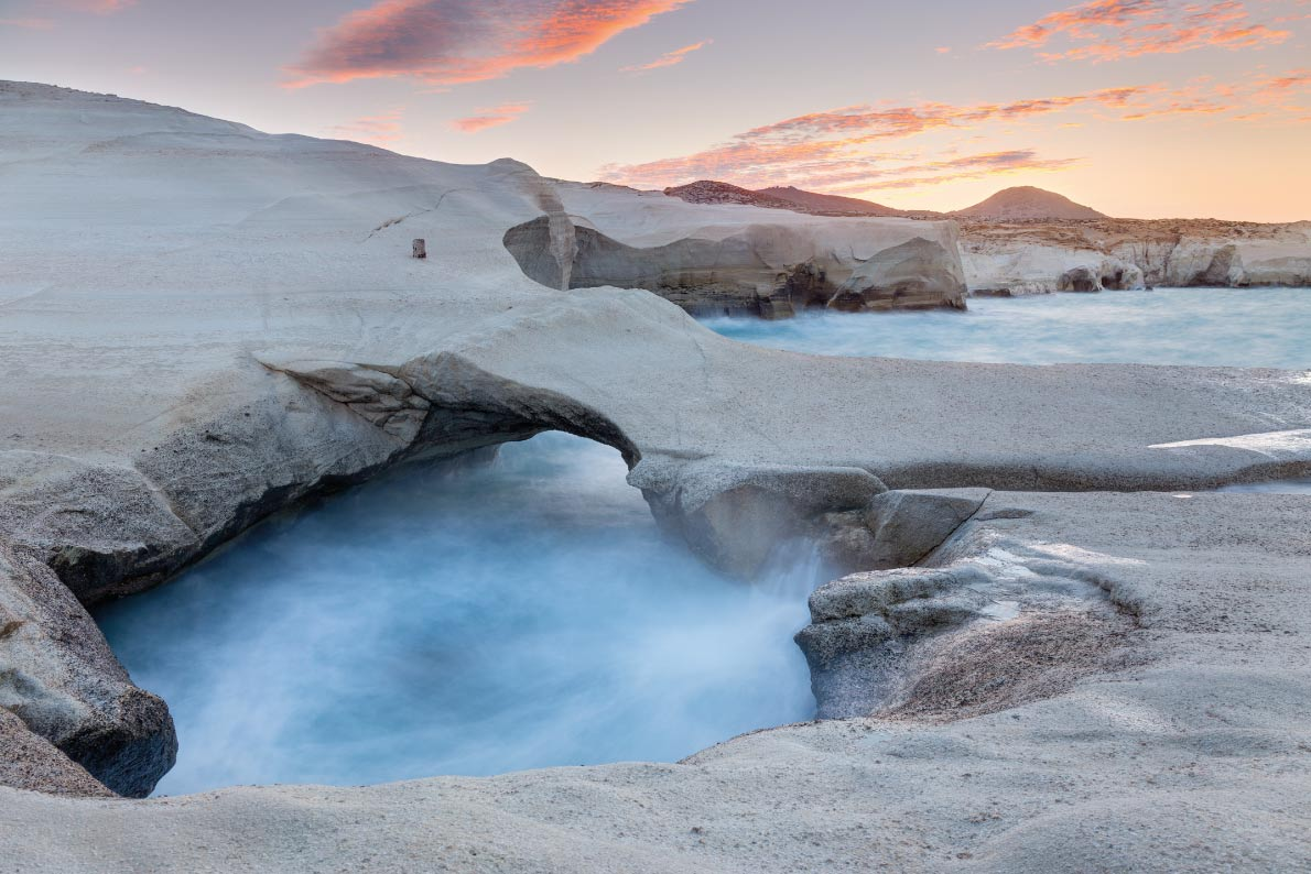 Best natural pools in Europe - Sarakiniko on Milos Island Copyright Lefteris Papaulakis - European Best Destinations