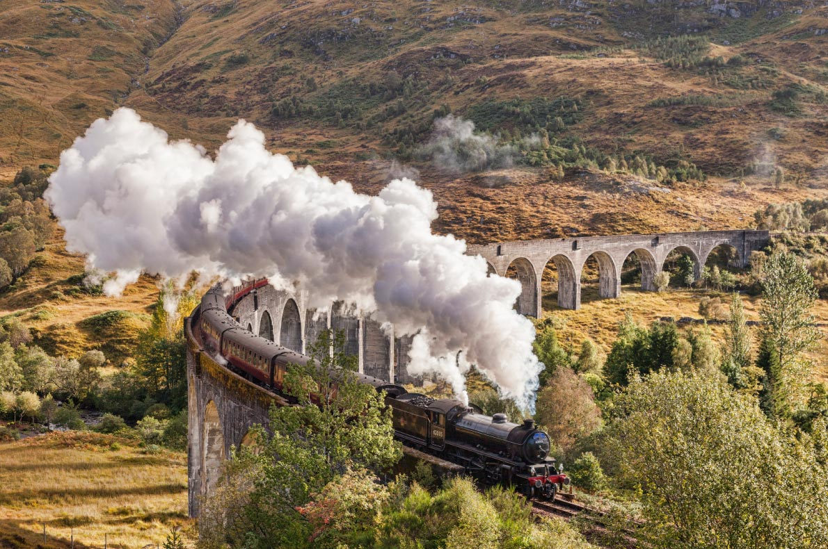 Best things to do in Scotland - Jacobite steam train Glenfinnan Viaduct copyright  travellight  - European Best Destinations