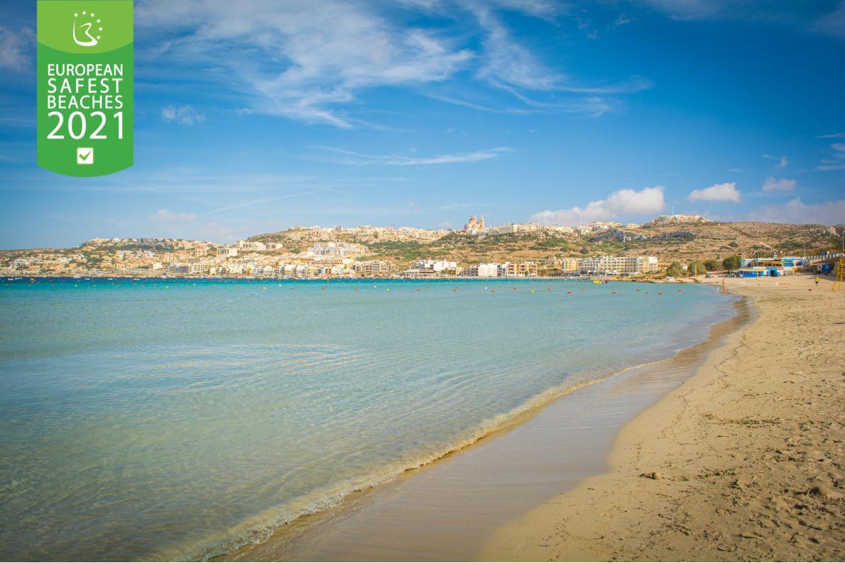 Safest beaches in Europe - Mellieha Bay - European Best Destinations