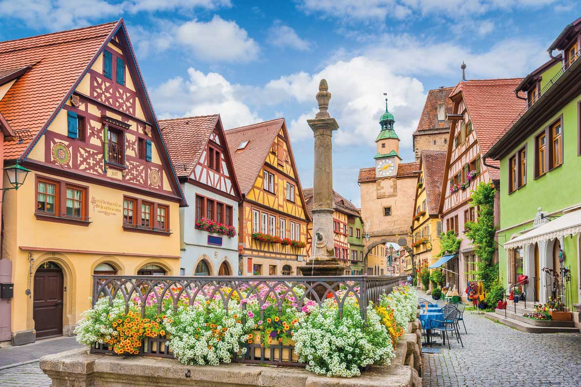 Best fortified destinations in Europe - Beautiful classic postcard view of the famous historic town of Rothenburg ob der Tauber Copyright canadastock  - European Best Destinations