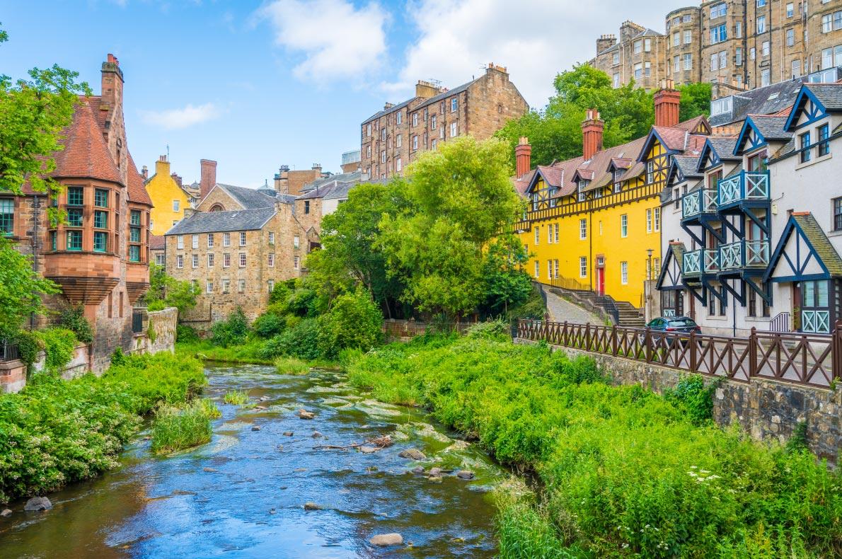 Best hidden gems in Scotland - Dean Village in Edinburgh Copyright  Stefano_Valeri- European Best Destinations