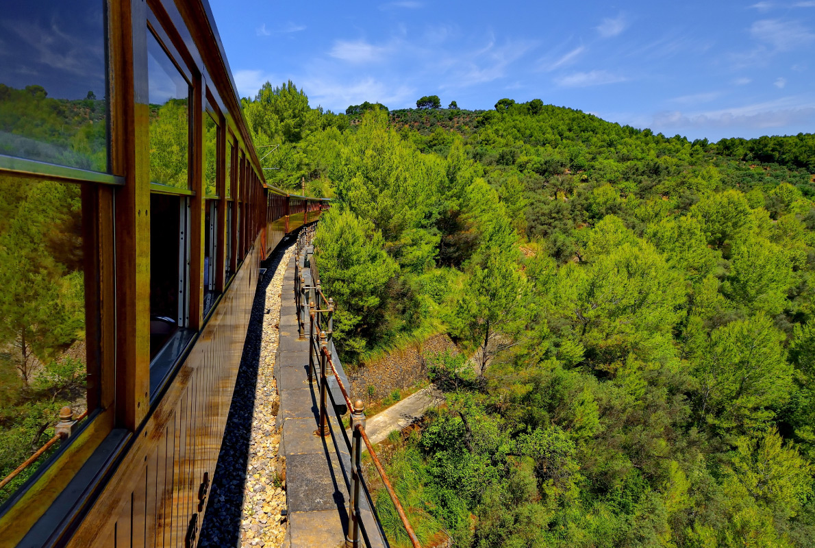 Best destinations to visit by train - Vintage train in Soller, Mallorca, Spain Copyright Jan Miko - European Best Destinations