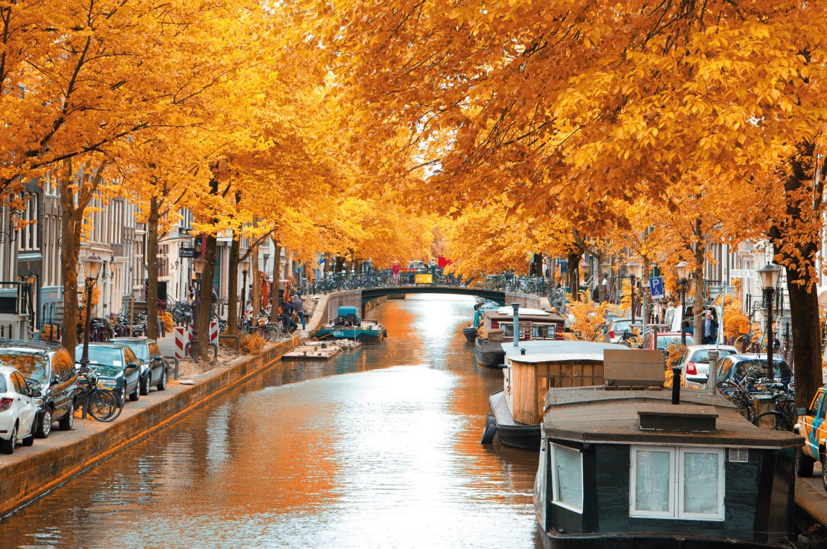 Amsterdam - Best Destinations for fall Autumn in Europe - Copyright Skreidzeleu  - European Best Destinations