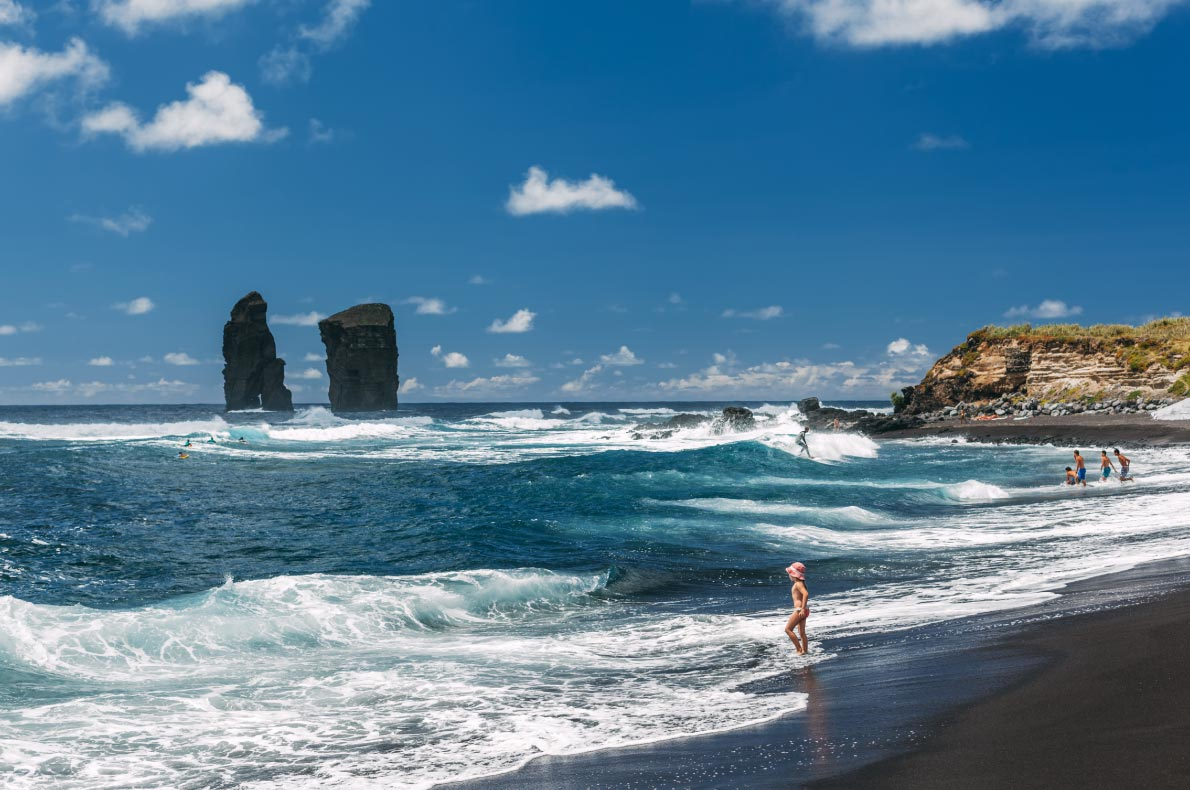 Best sustainable destinations in Europe - Azores Mosteiros Beach on Sao Miguel island copyright Nessa Gnatoush  - European Best Destinations