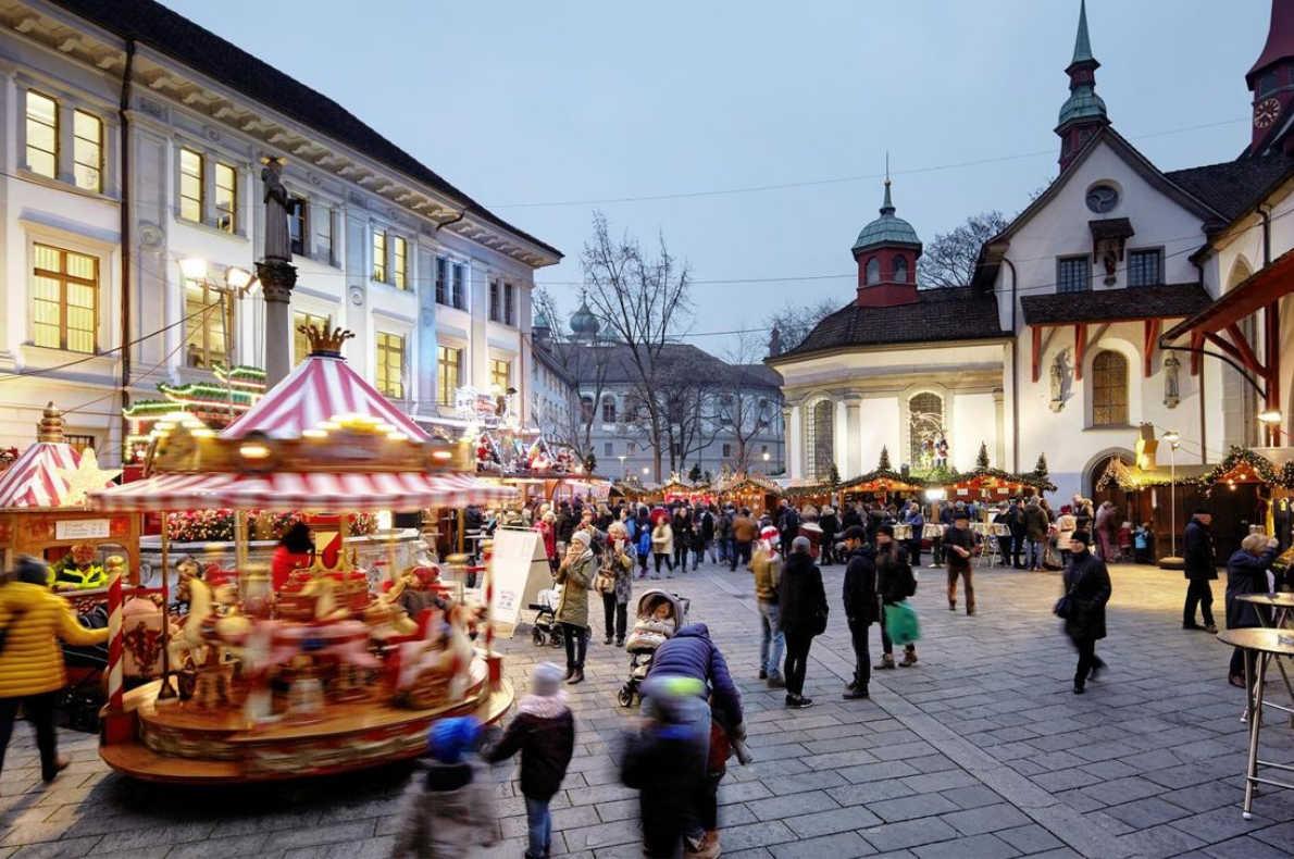 Best Christmas Markets in Switzerland - Lucerne Christmas Market - Copyright Luzern.com - European Best Destinations