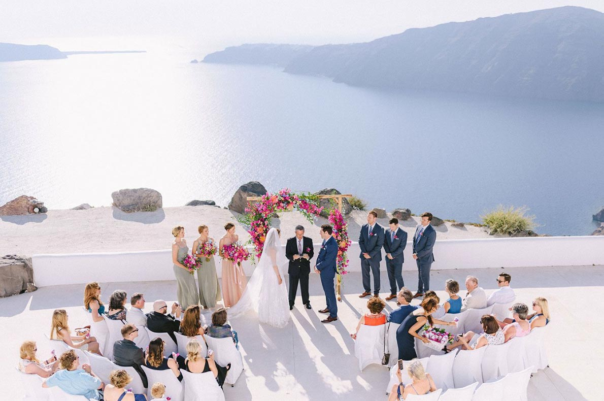Best wedding venues in Europe - Rocabella Santorini copyright Wedinspire - European Best Destinations