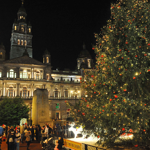 glasgow scotland - Christmas Tree Market