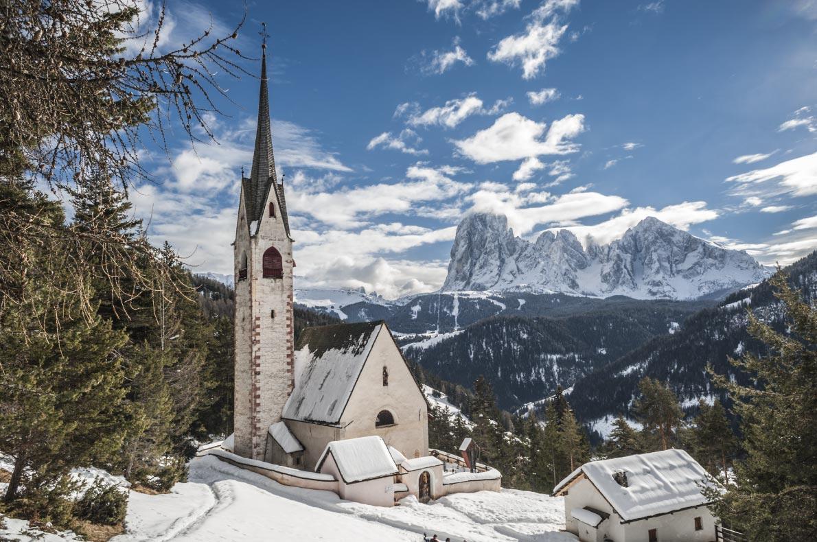 Best ski resorts in Italy - Val Gardena - Sasslong Church - Copyright  S.Micheli - European Best Destinations