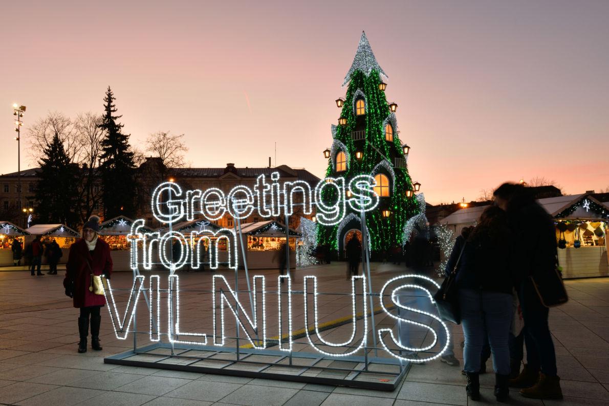Vilnius - Best Christmas Tree in Europe - Copyright Saulius_Ziura  - European Best Destinations