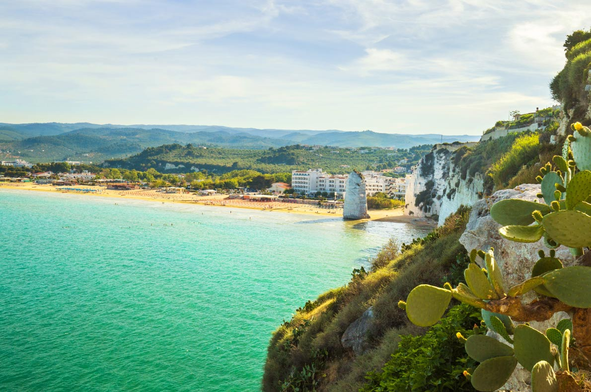 Best beaches in Europe - Best beaches in Europe - Beach of Pizzomunno rock, in Vieste, Gargano coast, Apulia, South of Italy - Copyright Elitravo - European Best Destinations