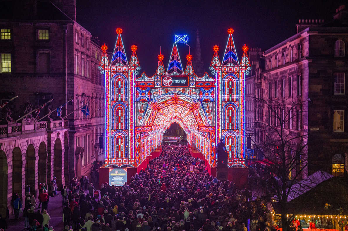 Best Christmas illuminations in Europe - Edinburgh Christmas Lights Festival - European Best Destinations Copyright Edinburgh Christmas Lights Festival