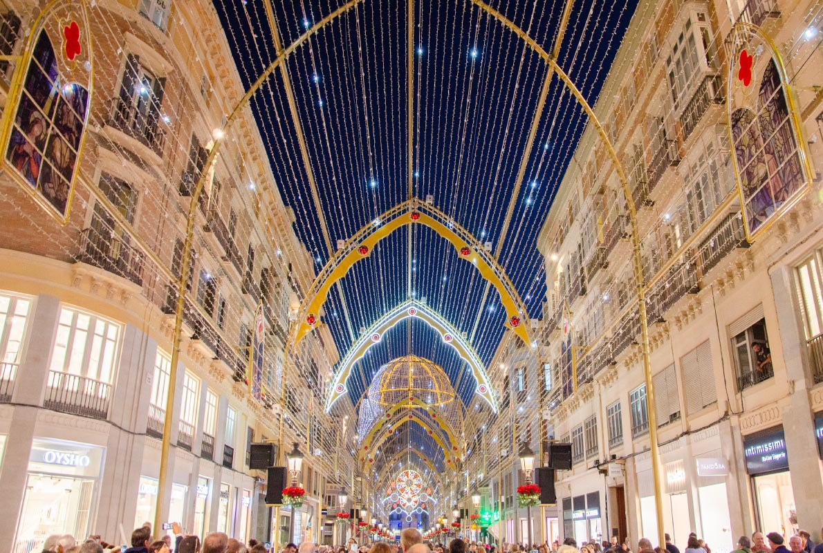 Malaga Christmas Lights - Best Christmas Lights in Europe - Copyright   - European Best Destinations