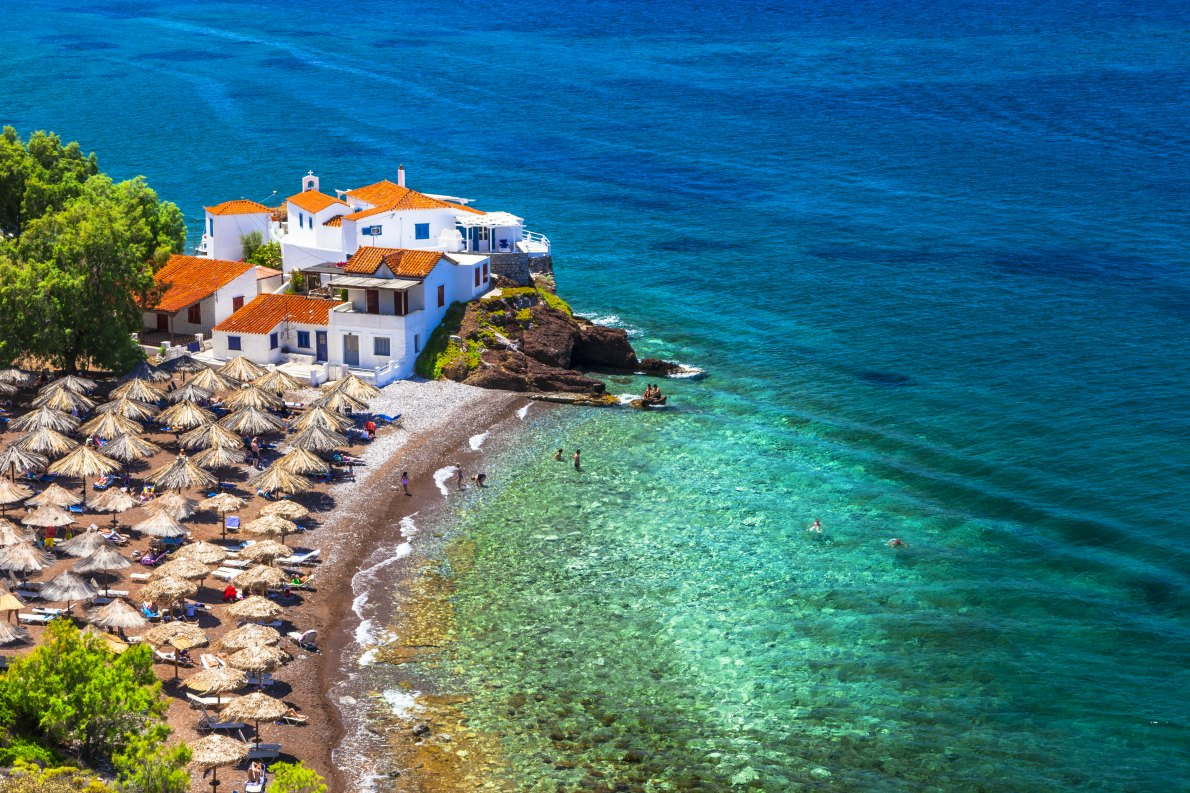 BEst beaches in Europe - Vlychos Hydra Island copyright  leoks