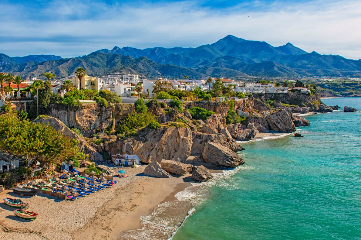 Best beaches in Spain - Nerja - Copyright Botond Horvath shutterstock   - European Best Destinations