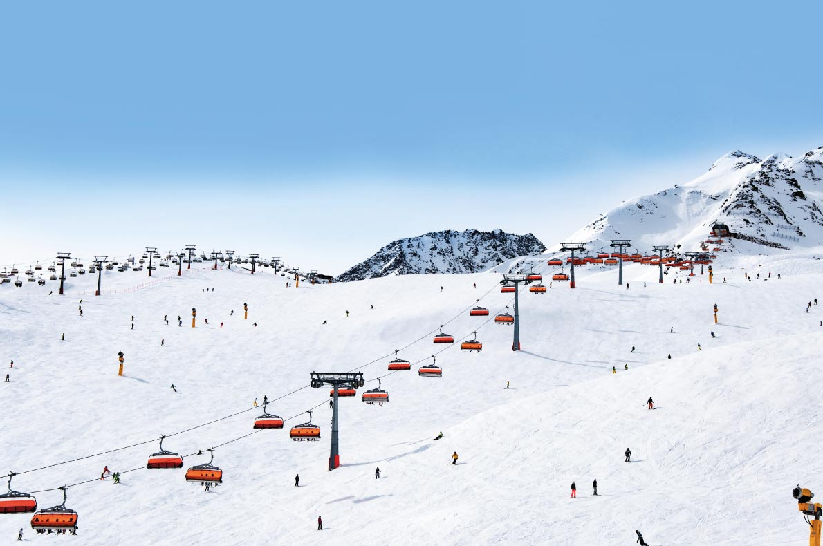 Best European Ski Resorts for Guaranteed Snow - Solden - Copyright Nahlik  - European Best Destinations
