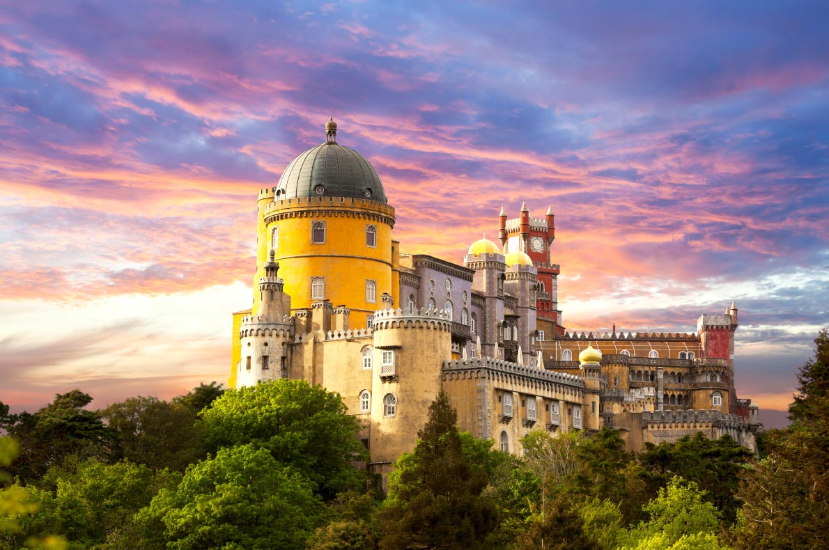 Best castles in Europe - Pena National Palace Copyright  Taiga- European Best Destinations
