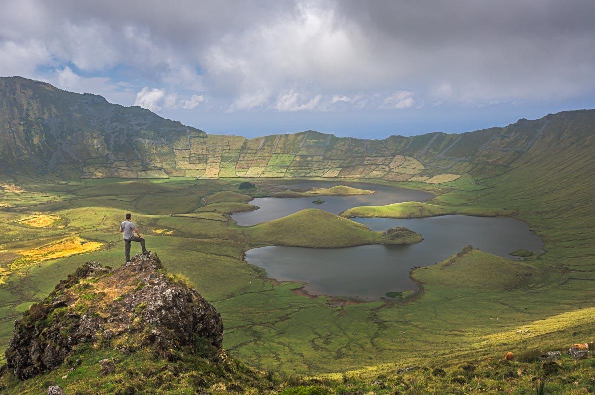 Nature wonders in Portugal - Volcano Crater - Corvo Island - Copyright Federica Violin  - European Best Destinations