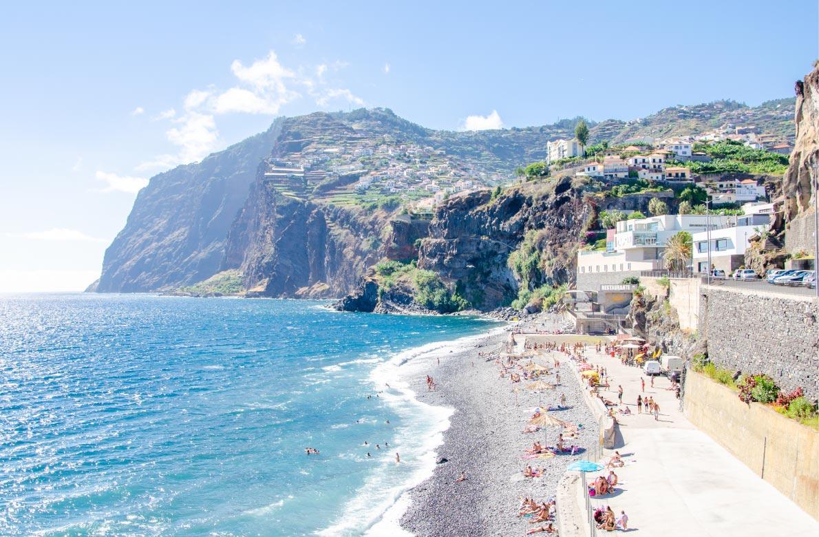 Best beaches in Madeira - Praia da Vigario in Camara de Lobos