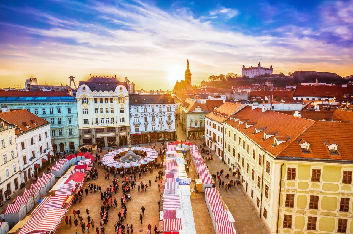 Covid 19 Safest Christmas Markets in Europe - Bratislava Christmas MArket Copyright Rasto-SK - European Best Destinations