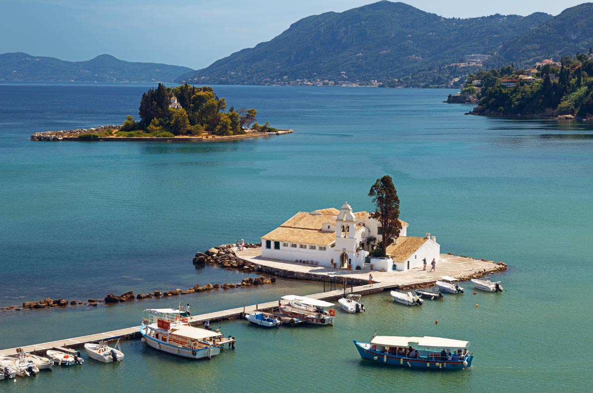 Best things to do in Greece - Vlacherna Monastery in Corfu Copyright  Mike Laptev  - European Best Destinations