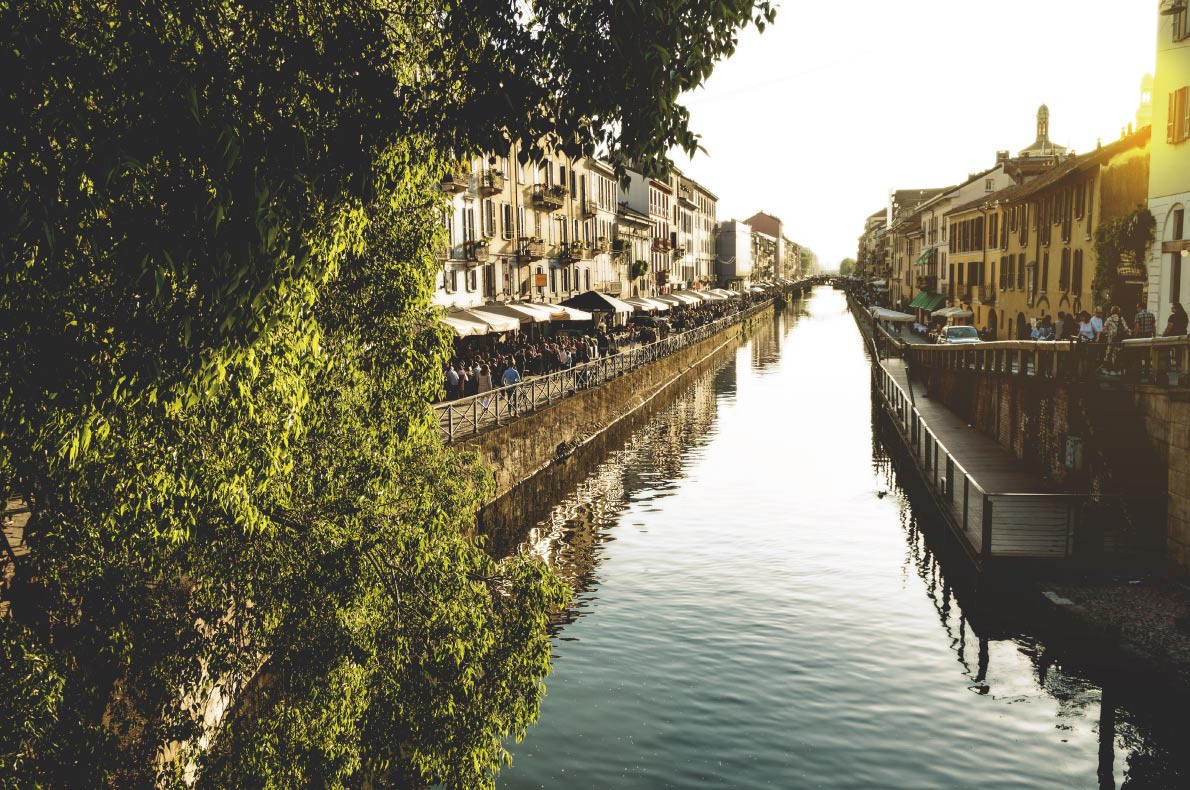Quietest destinations in Europe -  Milan Naviglio Copyright  Arcansel